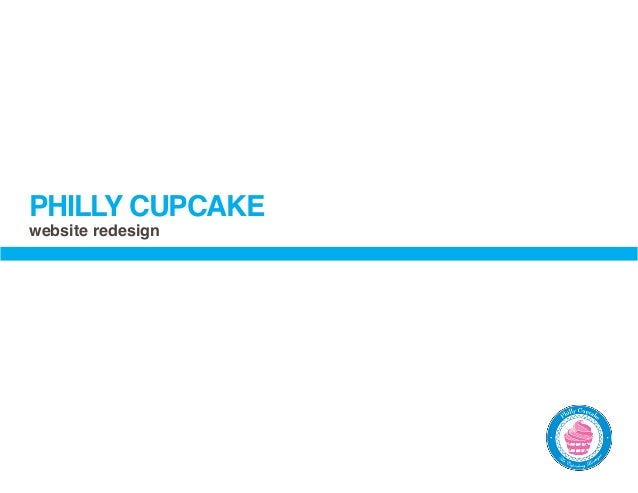 PHILLY CUPCAKEwebsite redesign