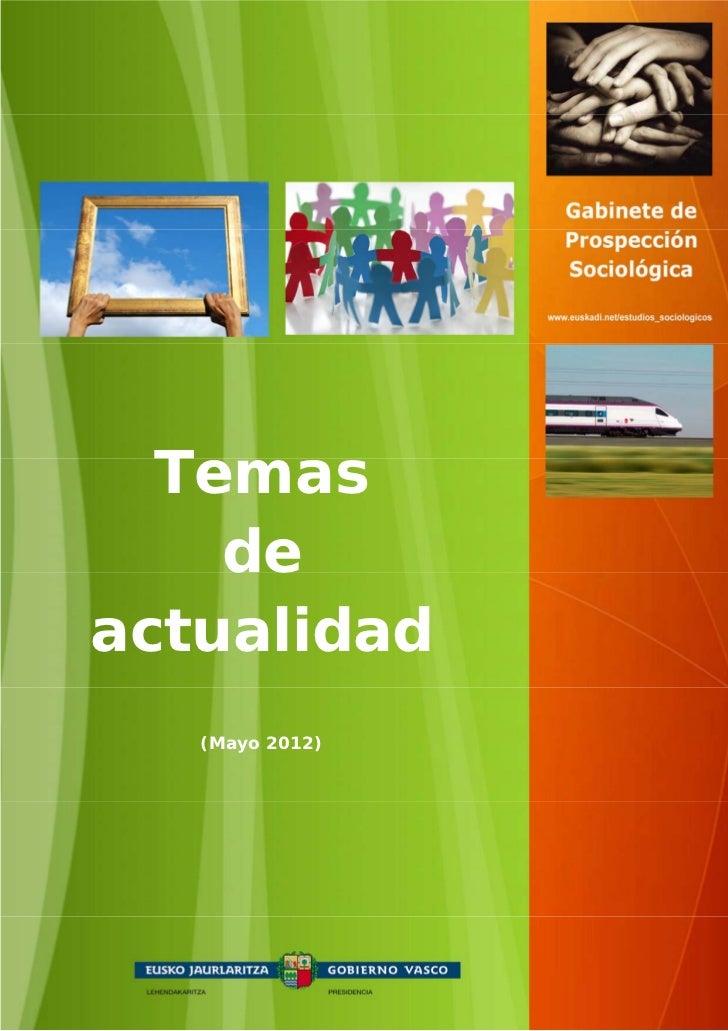Temas  Temas     de    de actualidadactualidad   (Mayo 2012)     (Mayo 2012)