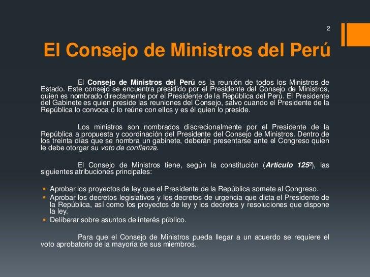 Gabinete ministerial del per for Ministros del peru