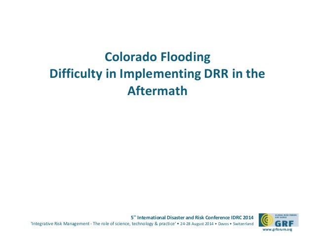 Gablehouse slides on DRR environmental factors