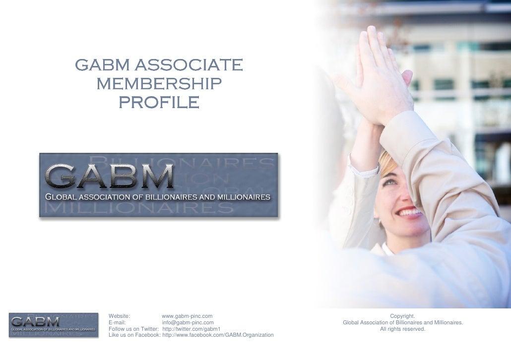 GABM ASSOCIATE  MEMBERSHIP    PROFILE  Website:              www.gabm-pinc.com                                            ...