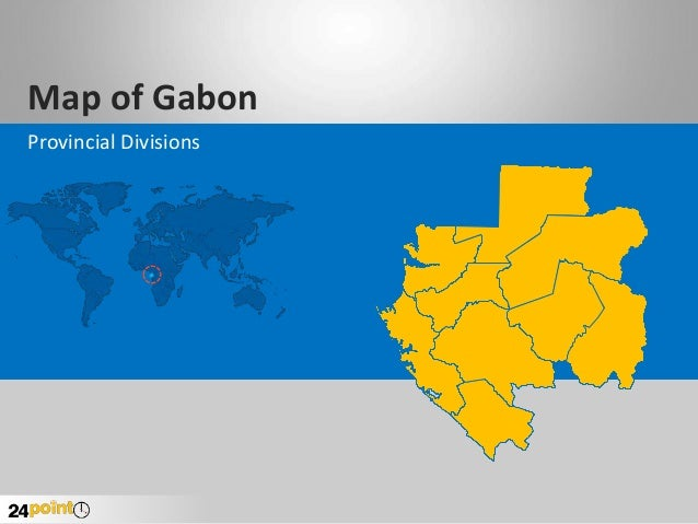 Map of Gabon Provincial Divisions