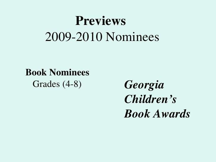 Ga Book Awards 09 10