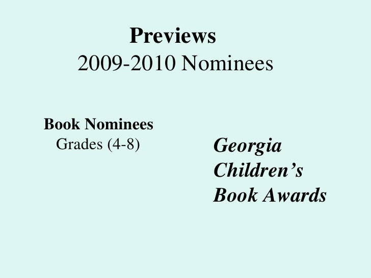 Ga Book Awards 09 10