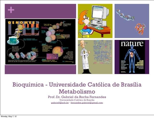 +            Bioquímica - Universidade Católica de Brasília                            Metabolismo                        ...