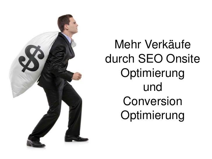 Mehr Verkäufe durch SEO Onsite- & Conversion Optimierung