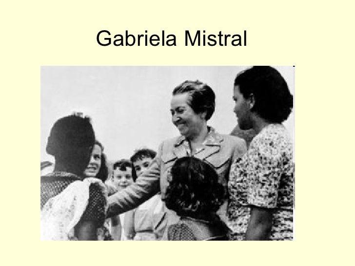 Gabriela mistral Biografía