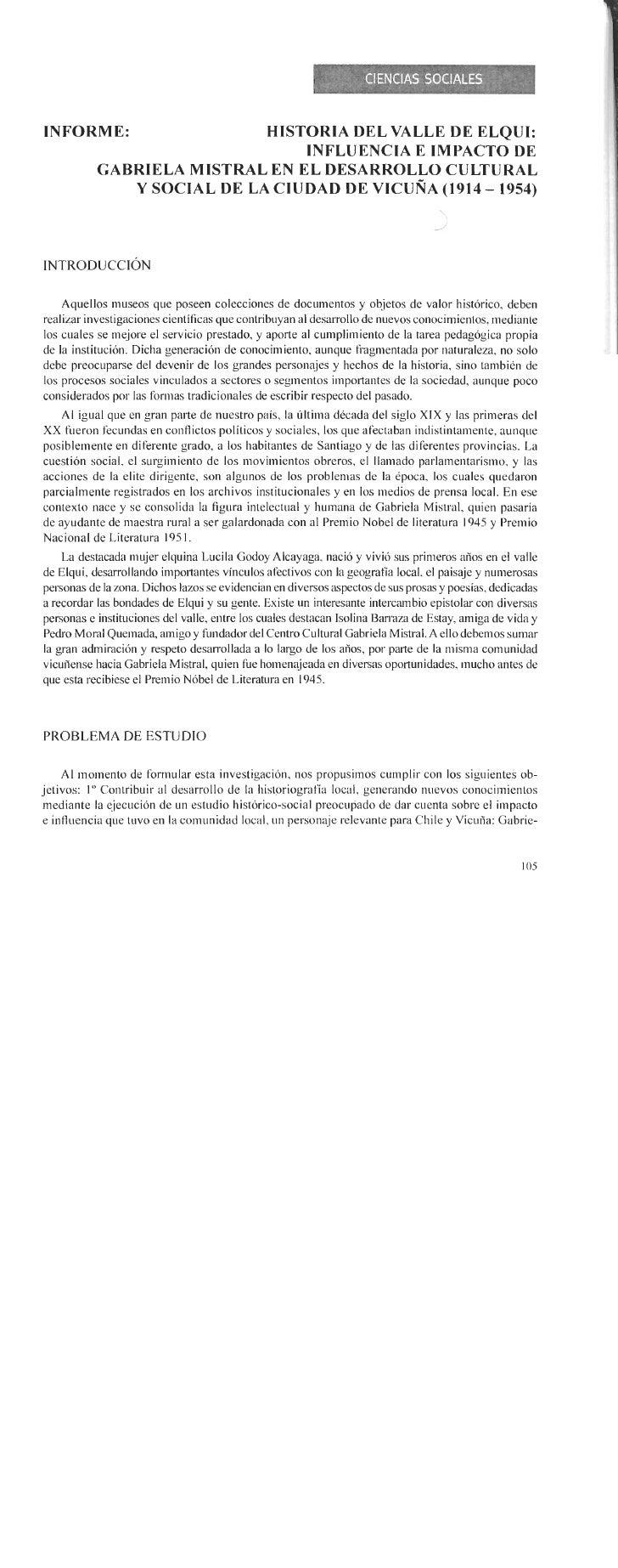 Influencia e impacto de Gabriela Mistral en el desarrollo cultural y social de la ciudad de Vicuña