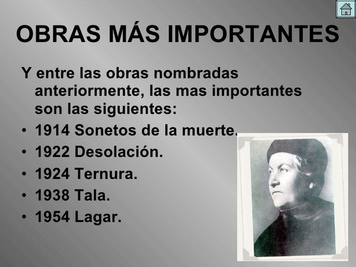 Gabriela Mistral obras mas importantes