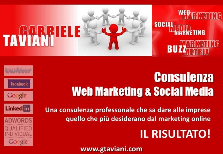 ConsulenzaWeb Marketing & Social Media<br />Una consulenza professonale che sa dare alle imprese quello che più desiderano...