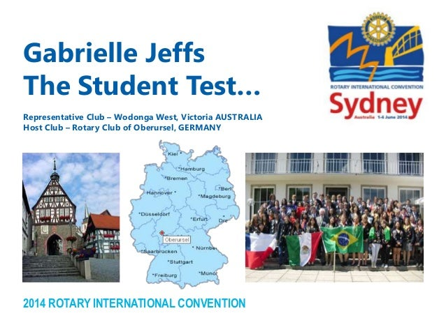 Shortening the Gap Between Rotaract and Rotary: Part 1 Gabrielle JeffsThe Student Test