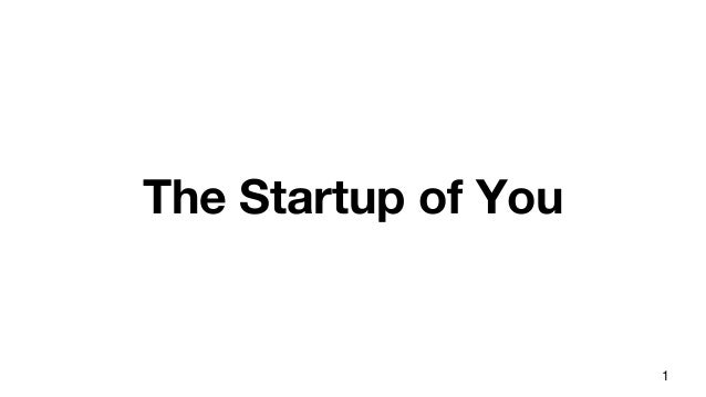 The Startup of You 1