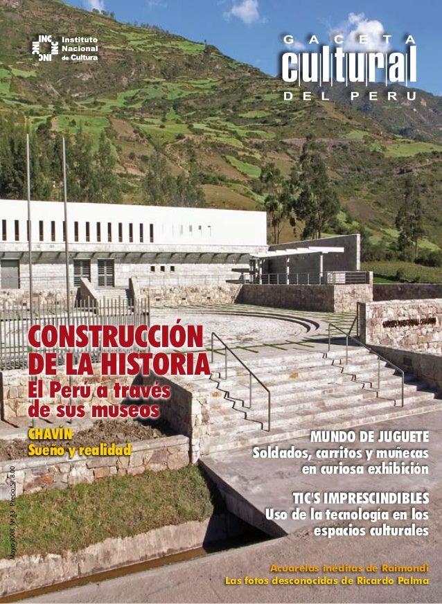 CONSTRUCCIÓN                                    DE LA HISTORIA                                    El Perú a través        ...