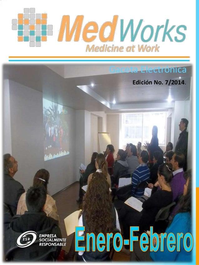 Gaceta Electrónica Edición No. 7/2014.