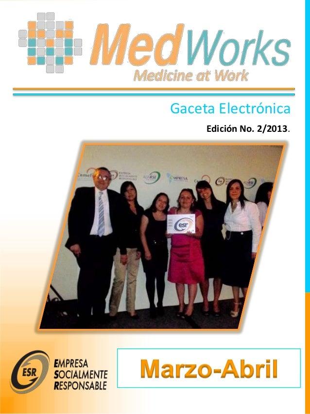 Gaceta ElectrónicaEdición No. 2/2013.