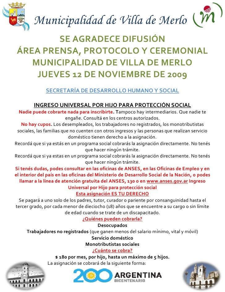 Gacetilla Municipal 12 De Noviembre