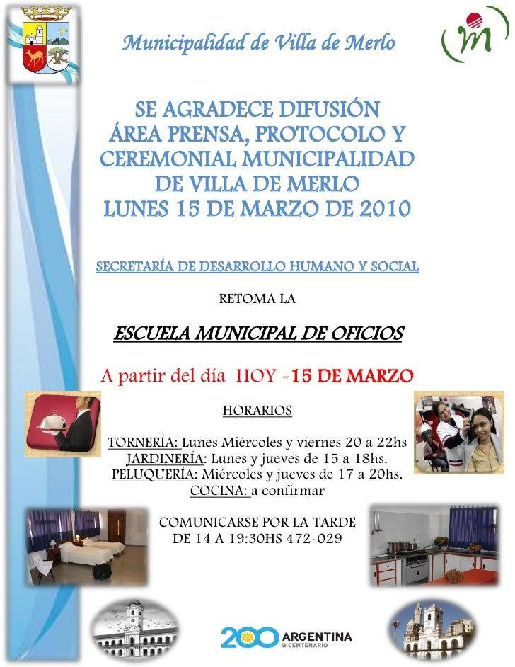 Gacetilla municipal 15 3-10