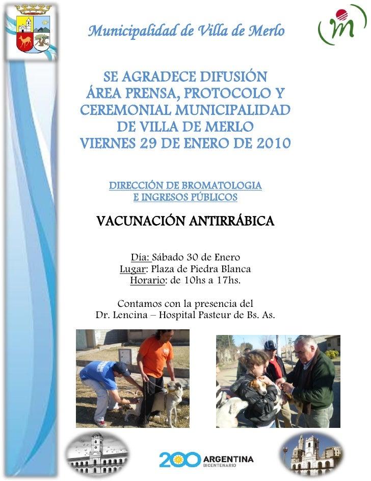 Gacetilla Municipal 29 1 10