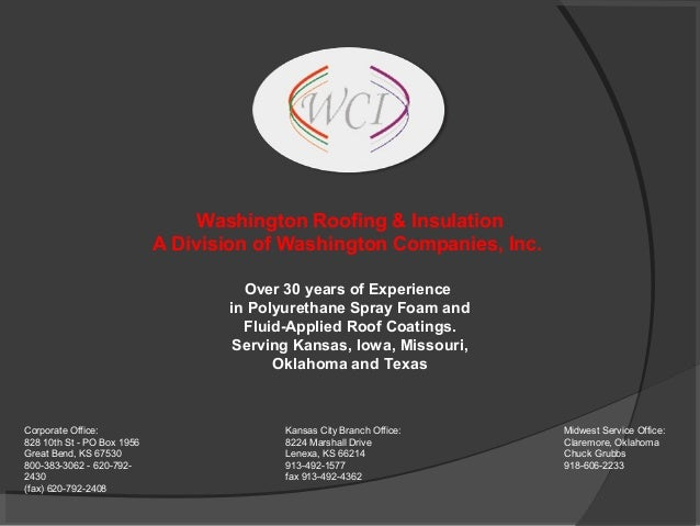 Washington Roofing & Insulation                            A Division of Washington Companies, Inc.                       ...