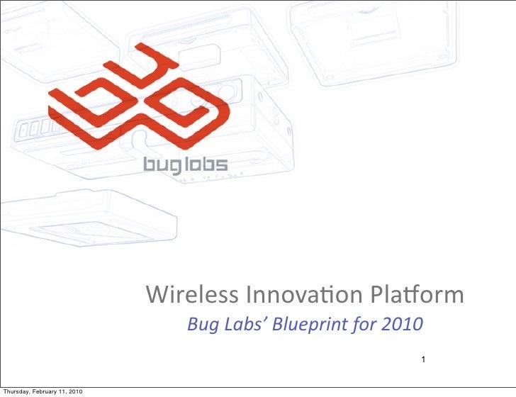 Wireless  Innova-on  Pla/orm                                   Bug  Labs'  Blueprint  for  2010               ...