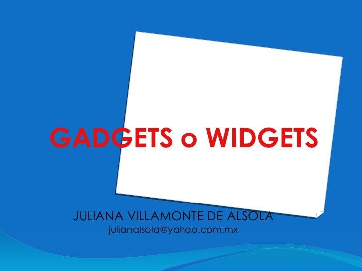 Gadget o Widget