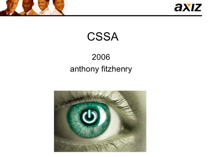 CSSA 2006 anthony fitzhenry