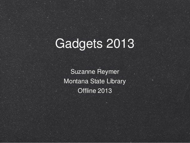 Gadgets 2013