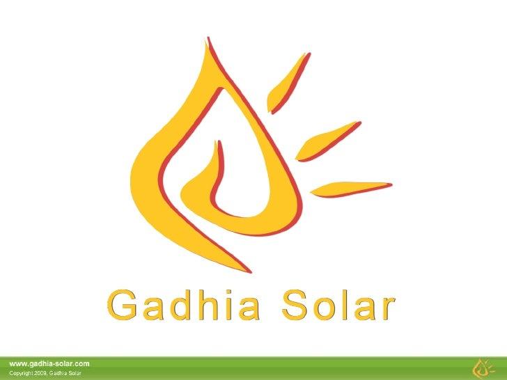 Gadhia Solar Profile