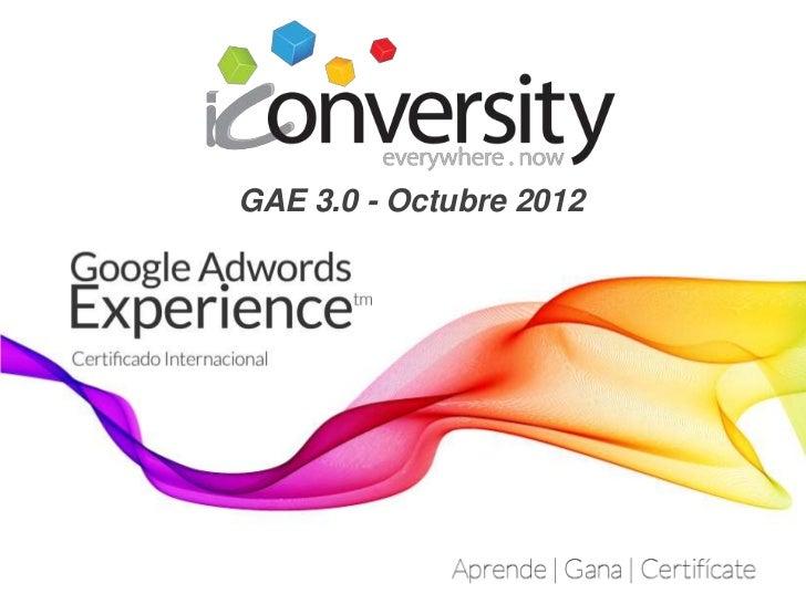 Gae. 3.0   octubre 2012