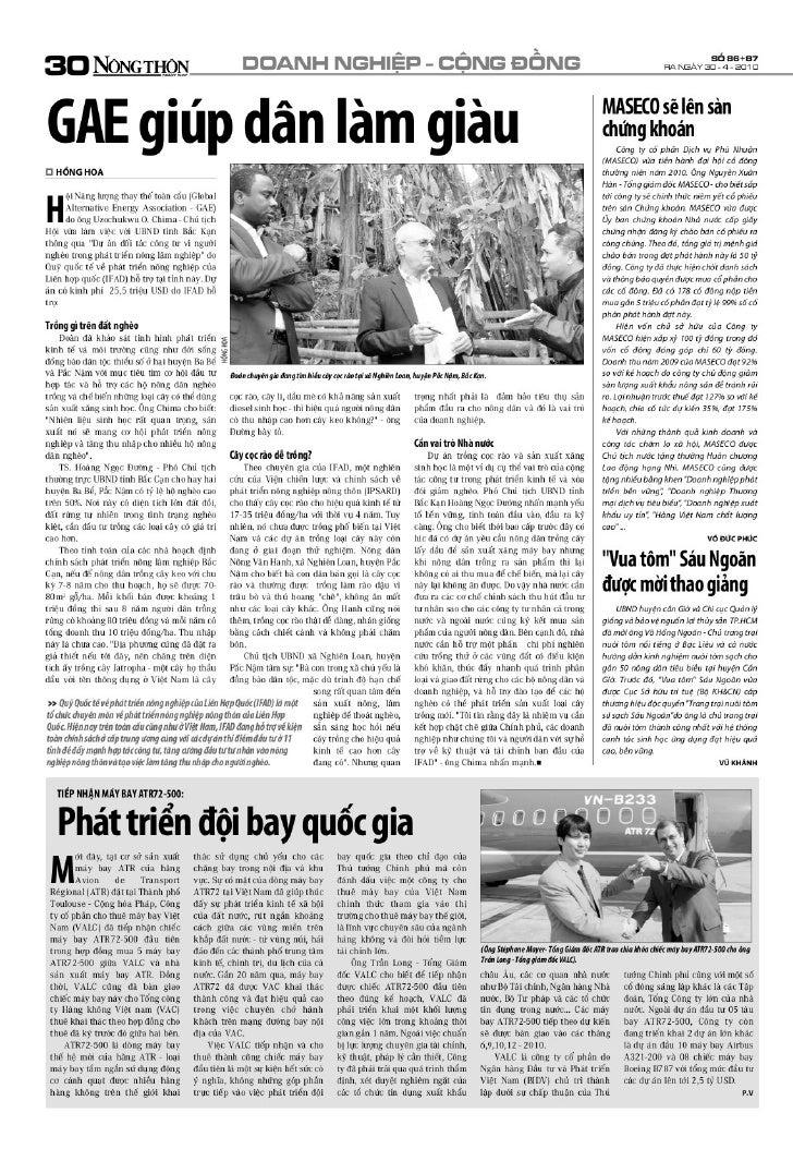 Gae giup dan lam giau newspaper article