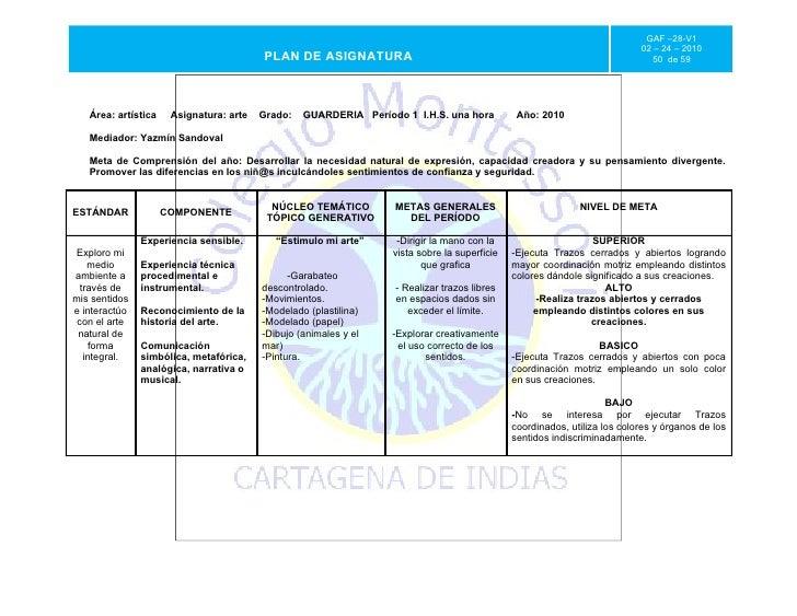 Gaf  28- v1- plan de asignatura artes