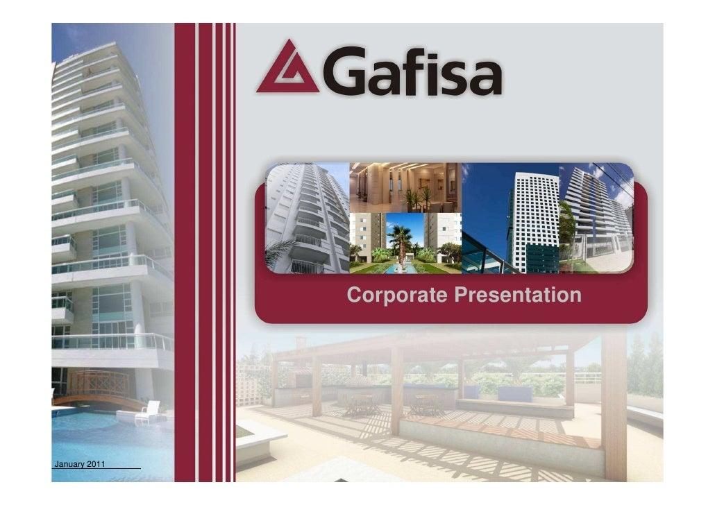 Corporate Presentation - January 2011