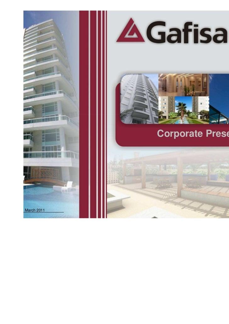 Corporate Presentation - March 2011