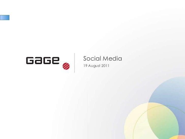 Social Media 19 August 2011