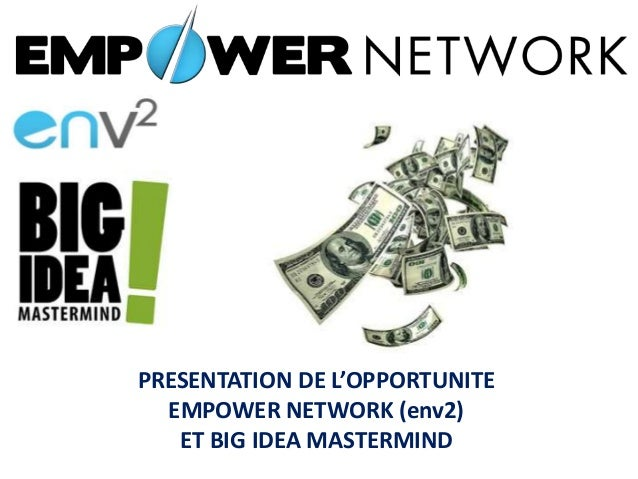PRESENTATION DE L'OPPORTUNITE EMPOWER NETWORK (env2) ET BIG IDEA MASTERMIND