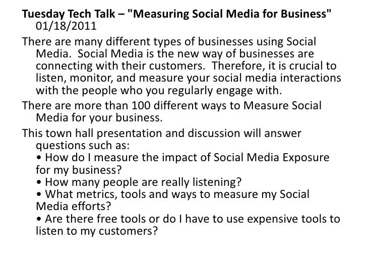 Measuring Social Media for Business - GAHCC Tech Talk