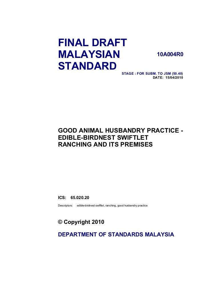 FINAL DRAFT MALAYSIAN                                                                    10A004R0  STANDARD               ...