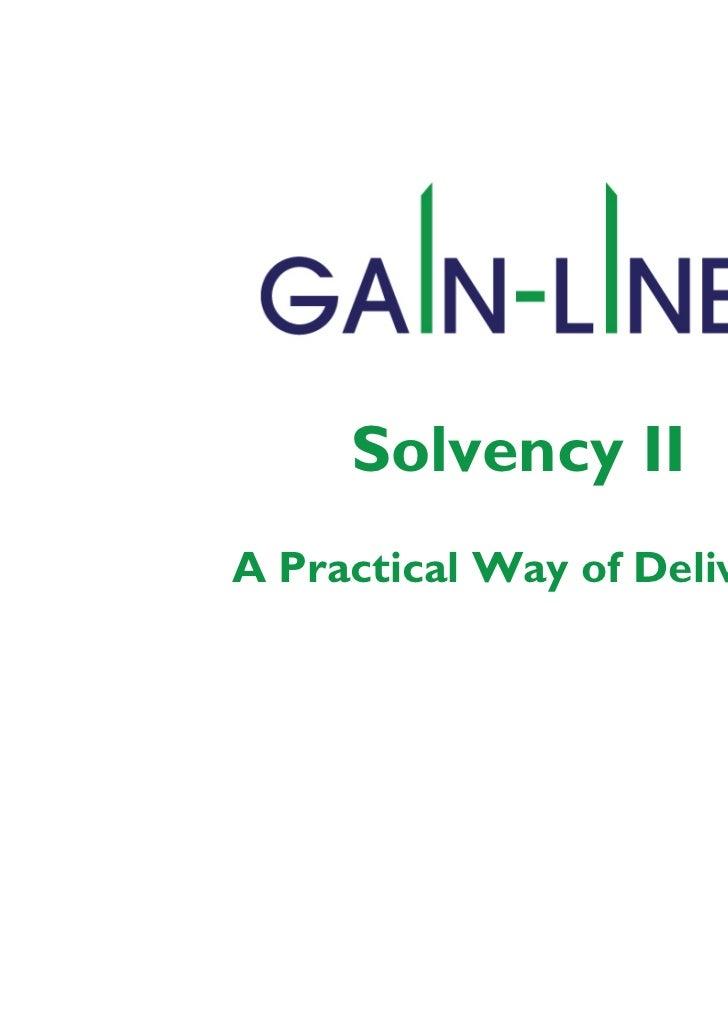 Solvency II - Programme Assurance