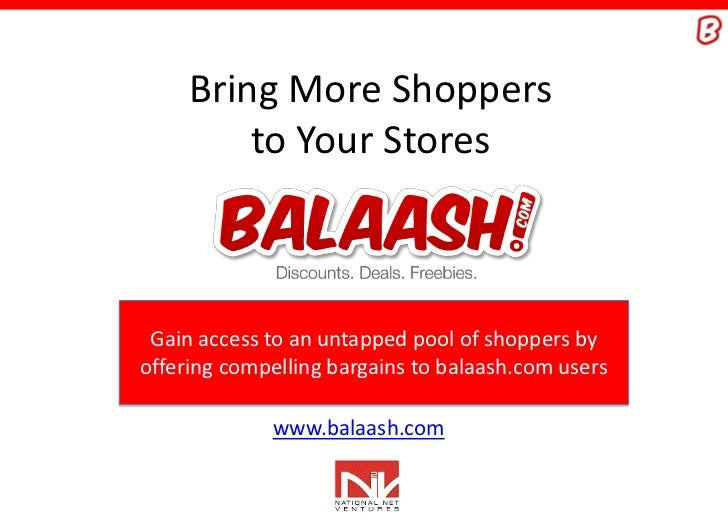 Bring More Shoppers         to Your Stores Gain access to an untapped pool of shoppers byoffering compelling bargains to b...