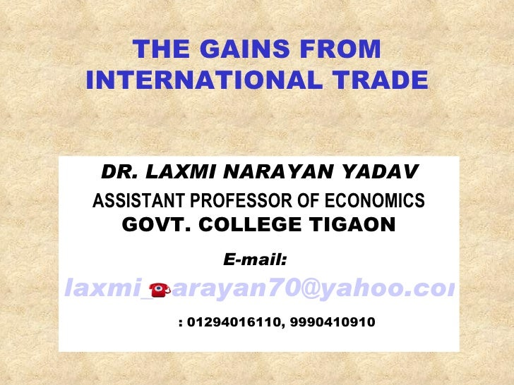 Gains from international trade pdf