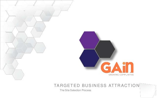 ©2013GAINTARGETED BUSINESS ATTRACTIONThe Site Selection Process