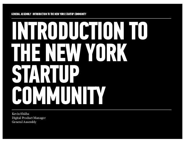 GA_Intro to the NYC Startup Community
