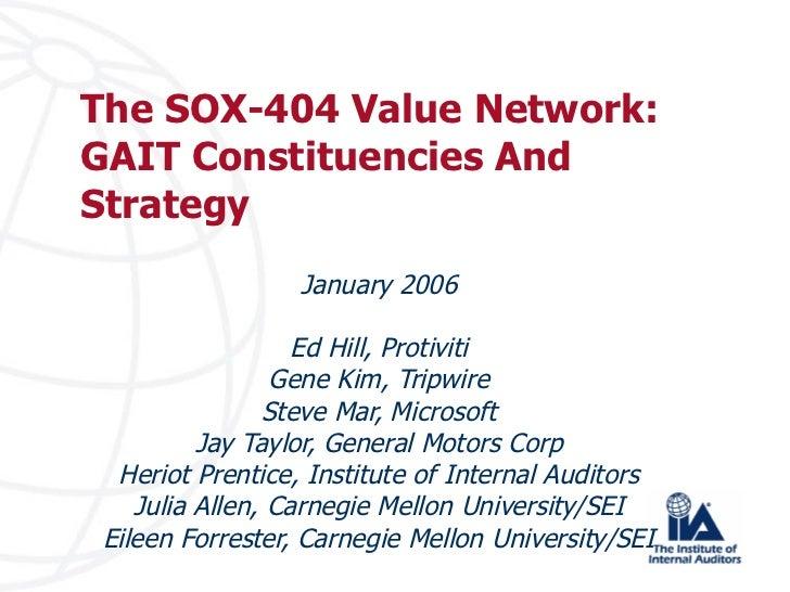 GAIT value network 2005 06
