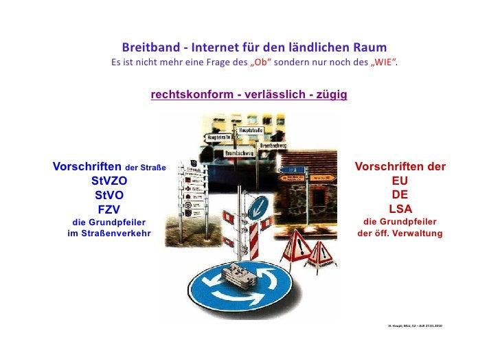 Breitband für den ländlichen Raum