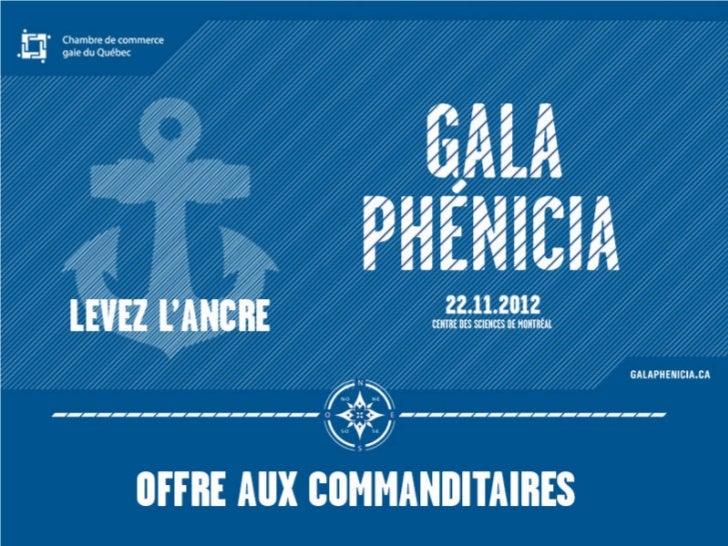 Gala Phenicia 2012 - Offre aux commanditaires