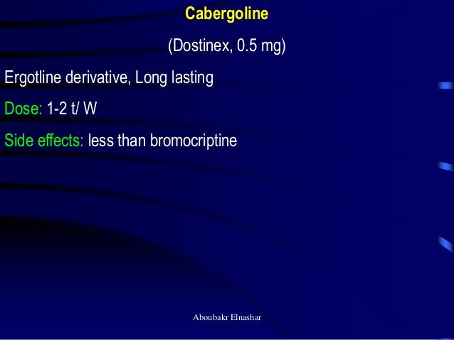 Bromocriptine Dose For Galactorrhea