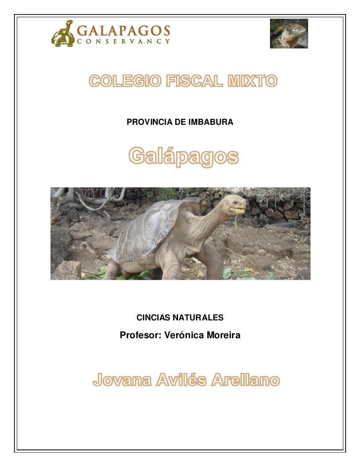 PROVINCIA DE IMBABURA   CINCIAS NATURALESProfesor: Verónica Moreira