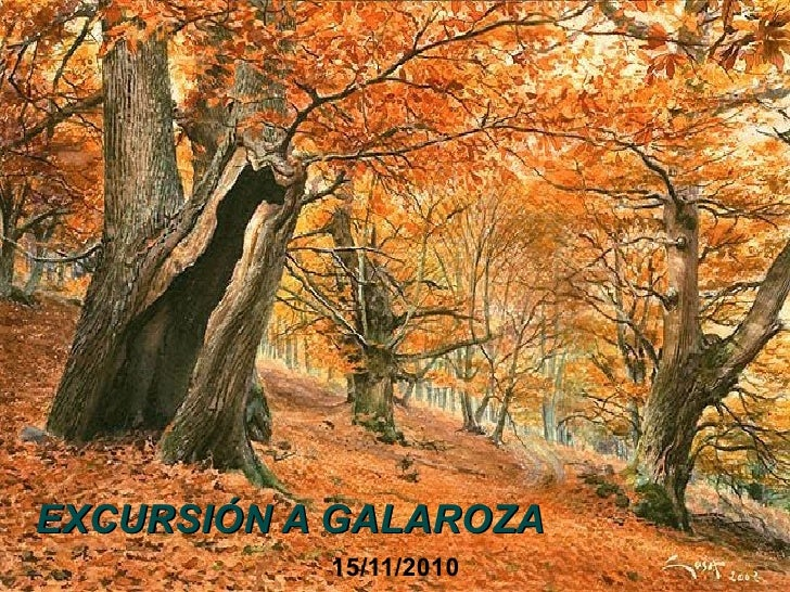 EXCURSIÓN A GALAROZA 15/11/2010
