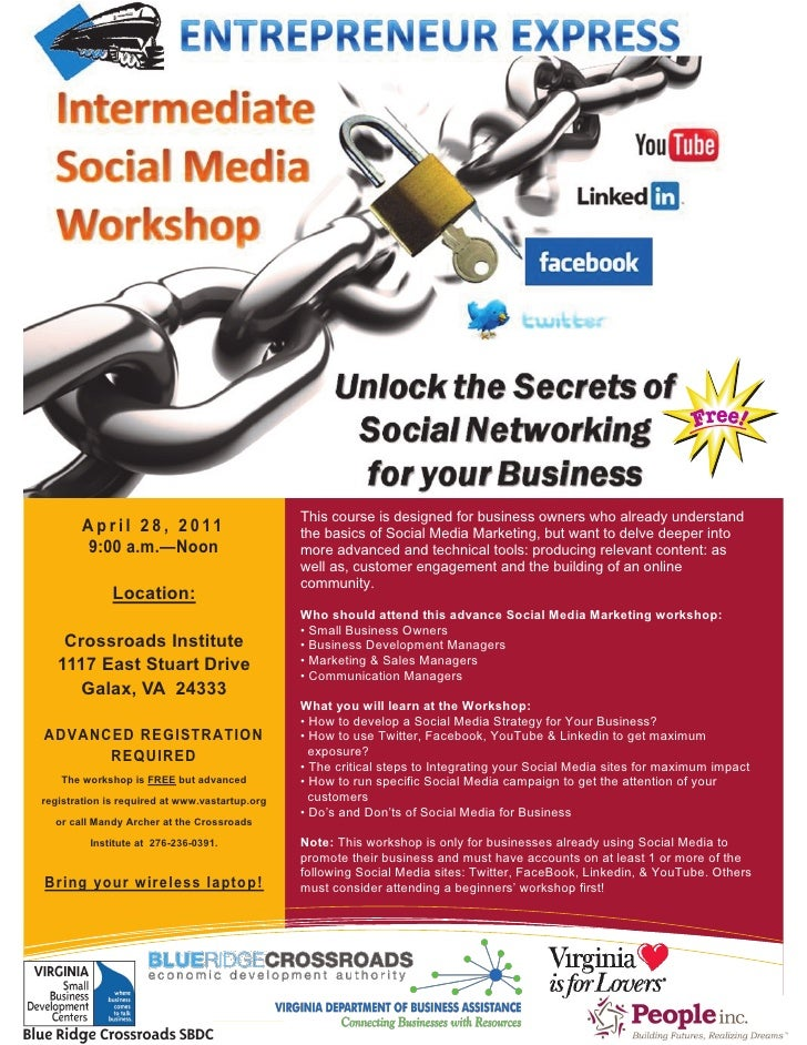 Galax Intermediate Social Media For Business Workshop, April 28, 2011