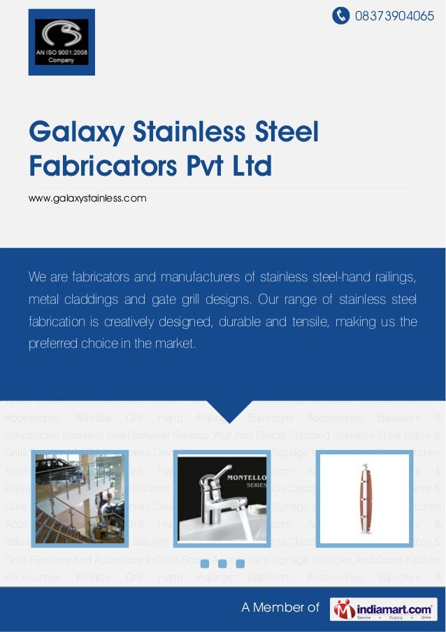 08373904065A Member ofGalaxy Stainless SteelFabricators Pvt Ltdwww.galaxystainless.comHand Railings Bathroom Accessories B...